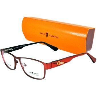 KOREA แว่นตา รุ่น POLO 734 Stainless Steel ขาสปริง (สีแดง)