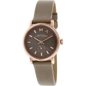 Harga Marc by Marc Jacobs MBM1318 Ladies Baker Gravel Grey Leather Strap Watch