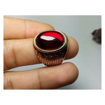 phra mongpol 0183แหวน...เพชรพญานาคสีแดง เนื้อ สแตนเหล็ก
