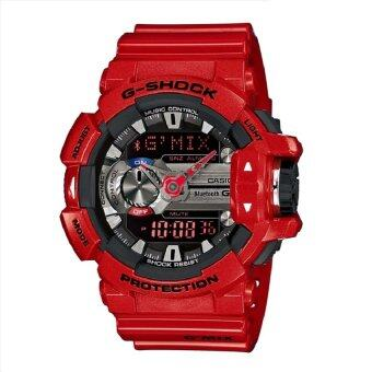 Casio G-shock นาฬิกาข้อมือผู้ชาย สีแดง สายเรซิ่น รุ่น GBA-400-4ADR