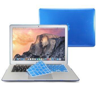 GMYLE เคส MacBook Air 13 นิ้ว พร้อม Keyboard Cover (สีน้ำเงิน)