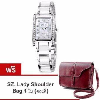Kimio นาฬิกาข้อมือสุภาพสตรี สีขาว/เงิน สาย Alloy รุ่น KW510 (แถมฟรี SZ. Lady Shoulder Bag คละสี มูลค่า 279-)