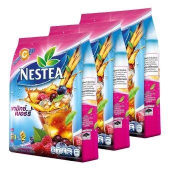 NESTEA เนสที ชาปรุงสำเร็จ รสมิกซ์เบอร์รี่ 12.5 กรัม x 18 ซอง (รวม 3 แพ็ค ทั้งหมด 54 ซอง)