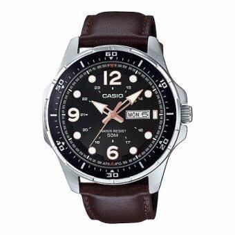 Casio Standard นาฬิกาข้อมือ ผู้ชาย สายหนัง รุ่น MTD-100L-5A