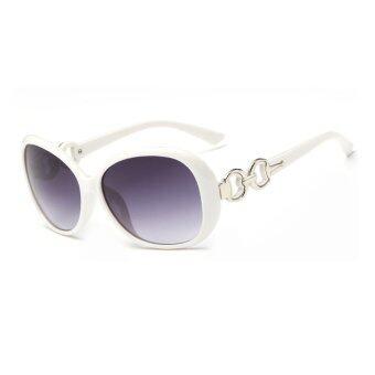 คนขับรถคนคลาสสิคแว่นกันแดดแว่นตากันแดดแว่นตาจิตวิเคราะห์แว่นตาขาว/สีเทา