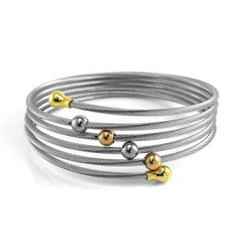 555jewelry 316L Bangle กำไล รุ่น MNC-BG155-A สี Steel