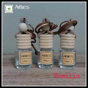 aibies [กลิ่นวนิลา] น้ำหอมรถอโรม่า ปลอดแอลกอฮอล์ ขนาด 2.5 mL - 3 ขวด