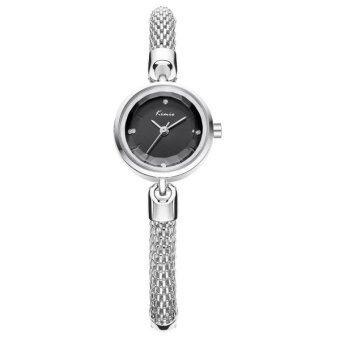Kimio นาฬิกาข้อมือผู้หญิง สายสแตนเลส สีเงิน/ดำ รุ่น KW6128