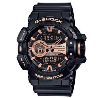 Casio G-Shock นาฬิกาข้อมือผู้ชาย สายเรซิ่น รุ่น GA-400GB-1A4 - สีดำ
