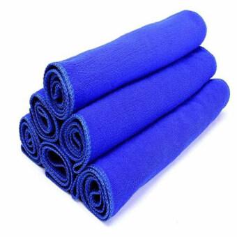 Aukey 6ชิ้นผ้าไมโครไฟเบอร์สำหรับล้างรถทำความสะอาดผ้า