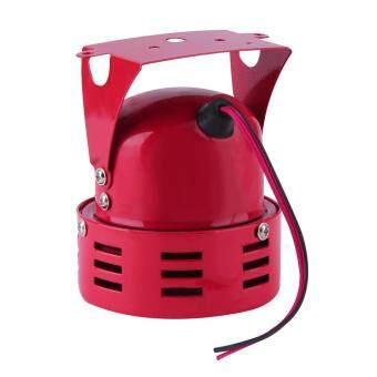 โอนิวสีแดง 12โวลต์รถยนต์รถบรรทุกเครื่องเป่าหวูดบุกมอเตอร์เตือนสีแดง