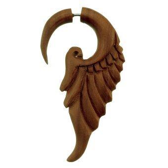 555jewelry ต่างหู fake expander จากไม้[สินค้าเป็นชิ้นเดียว] รุ่น WFX6Z