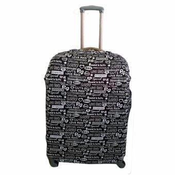 ผ้าคลุมกระเป๋าเดินทางแบบยืดสีดำ MyTrip M 23'-26'
