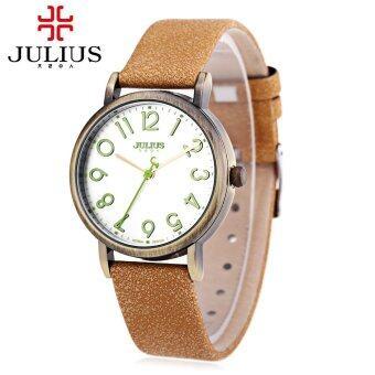 จูเลียสจ๋า-911 นาฬิกาควอทซ์หญิงสายหนังแท้ความทนทานต่อน้ำนาฬิกาข้อมือเรโทร