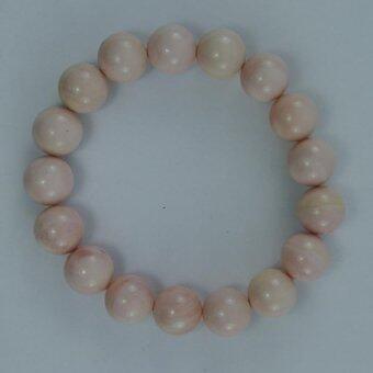 Pearl Jewelry กำไลหินประการัง Pink Coral A42