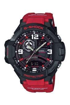 Casio G-shock Gravity นาฬิกาข้อมือผู้ชาย สายเรซิ่น รุ่น GA-1000-4B - สีแดง
