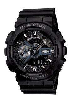Casio G-Shock ผู้ชายสีดำยางรัดนาฬิกา GA1101B