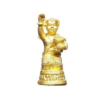 Amulettrue กุมารเพชร รุ่นรับทรัพย์ เนื้อโลหะชุบทองปัดเงา หลวงปู่ชื่น วัดตาอี จ.บุรีรัมย์ ปี 2545