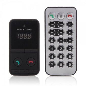 301E Bluetooth Handsfree Car Kit MP3 Player FM Transmitter with LED Screen Display Black - intl