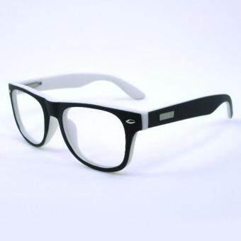 KOREA แว่นตาเด็ก สำหรับเด็กอายุ 6-12 ปี 2140 สีดำด้านตัดขาว (ขาสปริง)(โปร่งใส Black)