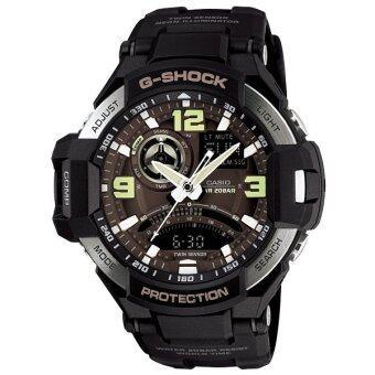 Casio G-Shock GRAVITYMASTER นาฬิกาข้อมือผู้ชาย สีดำ สายเรซิน รุ่น GA-1000-1BDR (สีดำ)