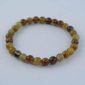 Pearl Jewelry กำไลหินไหมทอง 5 สี S30