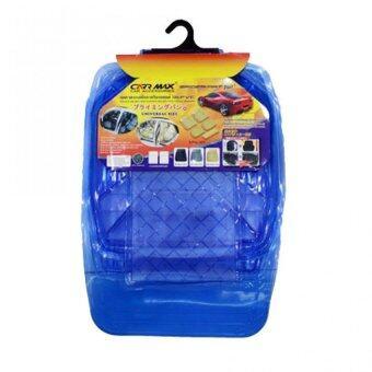 ถาดรองพื้นภายในรถยนต์ป้องกันสิ่งสกปรกวัสดุ PVC ชุด 5 ชิ้น (สีน้ำเงิน)