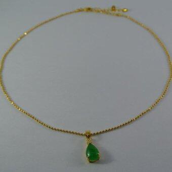 Pearl Jewelry สร้อยคอจี้หยก Drop Jade