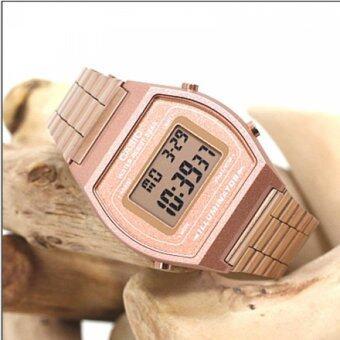 Casio Standard นาฬิกาข้อมือ สายสแตนเลส รุ่น B640WC-5ADF - สีพิ้งโกลด์