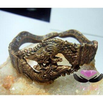 phra mongpol 0191กำไรข้อมือ พญานาคราช เนื้อทองเหลือง