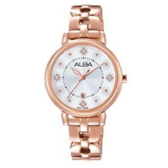 Alba นาฬิกาข้อมือผู้หญิง สายสแตนเลส รุ่น AH7L52X1 (สีพิ้งโกล)