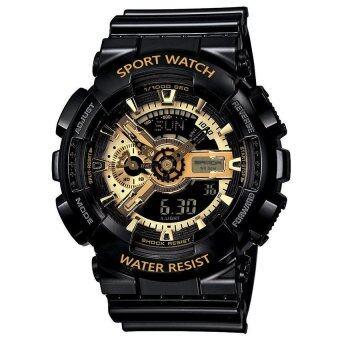 S SPORT นาฬิกาข้อมือ Unisex ใส่ได้ทั้งชายและใส่หญิง - GA110GB-1A (Black/ Gold)