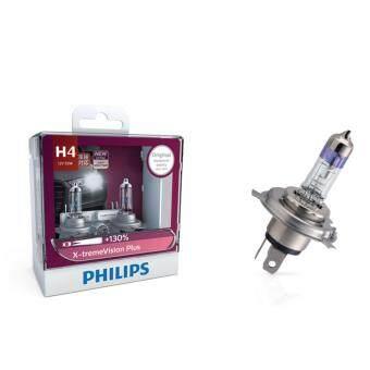 Philips หลอดไฟ รถยนต์ H4 รุ่น X-TREME Vision Plus Upgrade ความสว่าง +130%