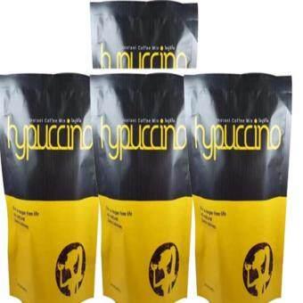 Hycafe Hypuccino instant coffee mix ไฮปูชิโน่ กาแฟที่หอมนุ่มรสคาปูชิโน่ ช่วยระบบเผาผลาญอาหารมากขึ้น แคลอรี่ต่ำ 4 ห่อ (10 ซอง/1 ห่อ)