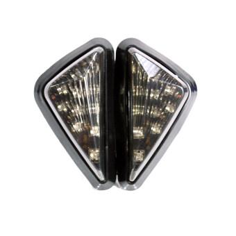 ไฟเลี้ยวแต่ง มอเตอร์ไซด์ LED 12V ทรงสามเหลี่ยมใหญ่ (หน้ากากใส)