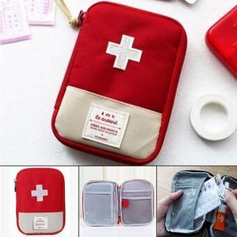 กระเป๋ายา ใช้ฉุกเฉิน สำหรับเดิน ท่องเที่ยว สีแดง