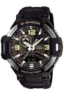 Casio G-Shock นาฬิกาข้อมือผู้ชาย สีดำ สายเรซิ่น รุ่น GA-1000-1B