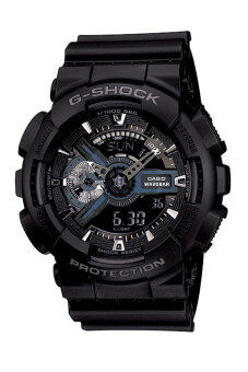 Casio G-shock นาฬิกาผู้ชาย สายเรซิ่น รุ่น GA-110-1B - Black