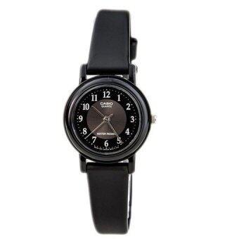 Casio Standard นาฬิกาข้อมือผู้หญิง สายเรซิ่น สีดำหน้าปัดโทนดำ รุ่น LQ-139AMV-1B3VDF (ดำ)