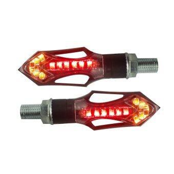 ไฟเลี้ยวแต่ง LED 12V ไฟท้ายไฟเบรคในตัว (4 สาย) 2 สี