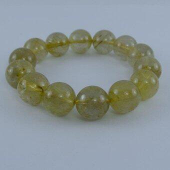 Pearl Jewelry กำไลหินไหมทอง A14