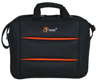 Spear กระเป๋าสะพายไหล่ ใส่โน๊ตบุ๊ค Laptop ใส่เอกสาร 16 นิ้ว รุ่น BO33605 (Black Orange)
