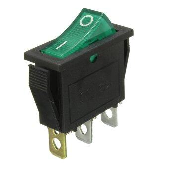 Waterproof 3Pins ON/OFF SPST Rocker LED illuminated Switch Car Boat Dashboard Green - Intl ราคาถูกที่สุด ส่งฟรีทั่วประเทศ