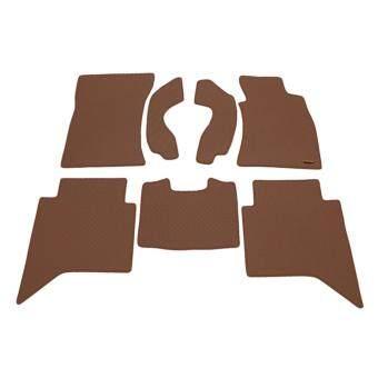 Matpro พรมปูพื้นเข้ารูป 100% ลายกระดุม ชุด Standard Set 7 ชิ้น - TOYOTA VIGO 4 DRs. 2013 (Brown)