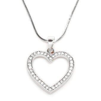 MONO Jewelry สร้อยคอเงินพร้อมจี้คลิสตัลหัวใจ เงิน 925 แท้ รุ่น Heart Design M236G