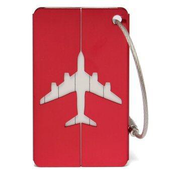 ใหม่กระเป๋าสัมภาระกระเป๋าเดินทางท่องเที่ยวอลูมิเนียมป้ายชื่อป้ายที่อยู่เอกลักษณ์