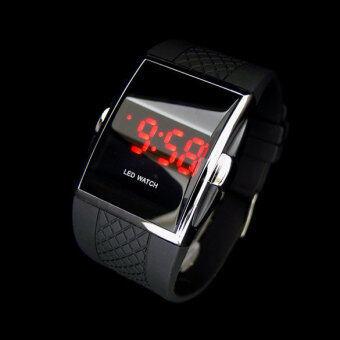สไตล์แฟชั่นร้อนแบบ Led นาฬิกาข้อมือนาฬิกาข้อมือเป็นของขวัญสำหรับเด็ก ๆ ผู้ชาย (สีดำ)