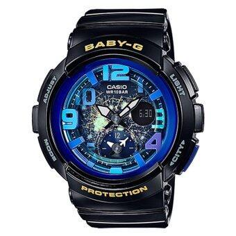 Casio Baby-G นาฬิกาข้อมือผู้หญิง สีดำ สายเรซิ่น รุ่น BGA-190GL-1BDR
