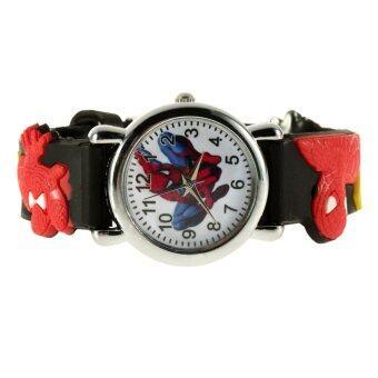 Allwin มนุษย์แมงมุม Marvel การ์ตูนเด็กผู้ชายลูกยางคล้ายคลึงนาฬิกาข้อมือควอตซ์