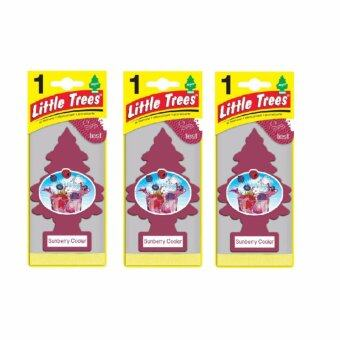 Little Trees® แผ่นน้ำหอมปรับอากาศ รูปต้นไม้ กลิ่น Sunberry Cooler จำนวน 3 ชิ้น